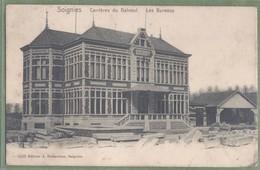 CPA Vue Rare - SOIGNIES - CARRIERES DU HAINAUT - LES BUREAUX - Editeur A. Delmoitier à Soignies / 3433 - Soignies