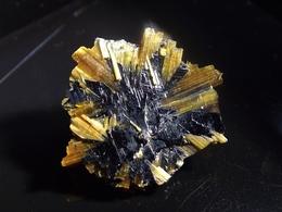 Rutile  On Hematite (1 X 1 X 0.2cm) - Novo Horizonte -  Bahia - Brazil - Minéraux