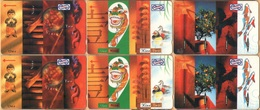 Malaysia - GPT, Uniphonekad, 18MSAA/B/C/D/E/F, Chinese New Year, Fishes, Trees, (Set Of 6 Cards), 1992, Mint - Malaysia