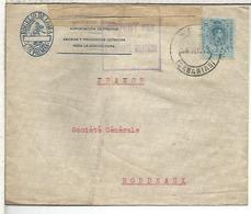 LAS PALMAS CANARIAS   CC  A BURDEOS 1916 CON CENSURA MILITAR FRANCESA - 1889-1931 Reino: Alfonso XIII