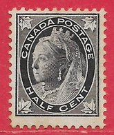 Canada N°54 0,5c Noir 1897-98 (*) - 1851-1902 Reign Of Victoria