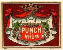Ancienne Etiquette De Rhum.Imprimeur Myncke - Rhum