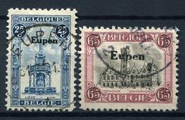 42457) DT.BESETZUNG Eupen # 16-17 Gestempelt Aus 1921, 50.- € - Besetzungen 1914-18