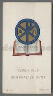 ES5210 SS. Sacramento ORDINE SACRO EVANGELIUM VERBA MEA NON PRAETERIBUM Santino Eb L.9 - Religione & Esoterismo