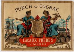 Ancienne Etiquette De Punch  Au Cognac - Rhum