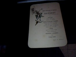 Vieux  Papier  Menu Comité Republicain De Naucelle  Année1910 - Menus