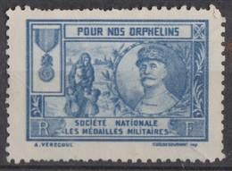 FRANCE 1919:  Vignette De Bienfaisance 'Pour Nos Orphelins', Neuf (*) - Other