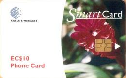 Grenada - GRE-C1, C&W, Ginger Lily, GEM5 (Black), 10 EC$, 2000, Used - Grenada