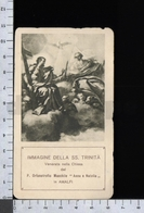 ES5216 IMMAGINE DELLA SS. TRINITA AMALFI CHIESA ORFANOTROFIO MASCHILE ANNA E NATALIA SANTA LEGA EUCARISTICA Santino - Religione & Esoterismo