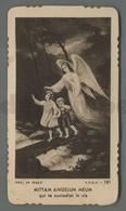 ES5219 ANGELO CUSTODE MITTAM ANGELUM MEUM SPES 191 FUSTELLATO Santino - Religione & Esoterismo