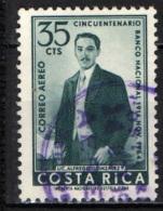 COSTARICA - 1965 - ALFREDO GONZALES - 1° GOVERNATORE DELLA BANCA NAZIONALE - USATO - Costa Rica