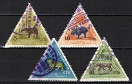 COSTARICA - 1963 - ANIMALI DEL COSTARICA - ANIMALS - USATI - Costa Rica