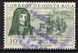 COSTARICA - 1960 - 3° CENTENARIO DI SAN VINCENZO DA PAOLA - USATO - Costa Rica