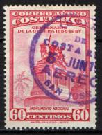 COSTARICA - 1957 - CENTENARIO DELLA GUERRA 1856-1857 - MONUMENTO NAZIONALE - USATO - Costa Rica