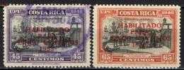 COSTARICA - 1953 - COLON EN CARIARI - CON SOVRASTAMPA - OVERPRINTED - USATI - Costa Rica