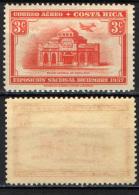COSTARICA - 1938 - AEREO SULLA BANCA NAZIONALE - MNH - Costa Rica
