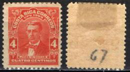 COSTARICA - 1910 - JOSE M. CANAS - MH - Costa Rica