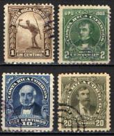 COSTARICA - 1910 - PERSONALITA' DEL COSTARICA - USATI - Costa Rica