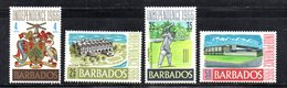 T656 - BARBADOS 1966 , Serie Yvert N. 263/266  ***  MNH . INDIPENDENZA - Barbados (1966-...)