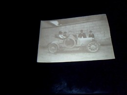Photographie Noir Et Blanc Tacot Avec Personages 6x8 Cm Env - Autres