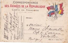 CARTE  EN  FRANCHISE  ,,,,, VOYAGE  1914,,,, - Marcophilie (Lettres)