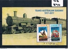 Australia 2017  Railway  M/sheet  F/used AA870 - 2010-... Elizabeth II