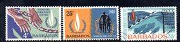 T934 - BARBADOS 1968 ,  Yvert N. 286/288 Usato . Diritti Umani - Barbados (1966-...)