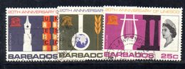 T955 - BARBADOS 1967 ,  Yvert N. 267/269 Usato . Unesco - Barbados (1966-...)