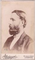 ANTIQUE CDV PHOTO - BEARDED MAN . LIVERPOOL STUDIO - Photographs