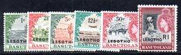 T1616 - LESOTHO 1966 , Sei Valori Con Gomma Integra ** - Lesotho (1966-...)