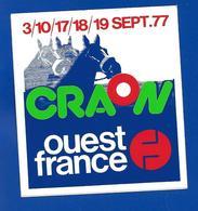 A.C. 1977 CRAON COURSES HIPPIQUES Ouest France - Stickers
