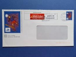 PAP - Entier Postal - Foot Montpellier 98 - Repiquage Midi-Libre - Flamme Grotte Clamouse - Tampon Montpellier 29.05.98 - Entiers Postaux