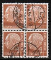 GERMANY  Scott # 703 VF USED BLOCK Of 4 (Stamp Scan # 422) - Oblitérés