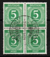 GERMANY  Scott # 534 VF USED BLOCK Of 4 (Stamp Scan # 422) - Zone AAS