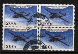FRANCE  Scott # C 30 VF USED BLOCK Of 4 (Stamp Scan # 422) - Airmail