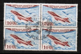 FRANCE  Scott # C 29 VF USED BLOCK Of 4 (Stamp Scan # 422) - Airmail