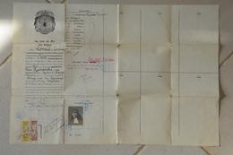 Visa Belge Passeport 1921 - Historical Documents