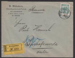 Freiwaldau Jeseník Frývaldov, R-Bf öst. Schlesien Glacehandschufabrik Lederfärberei 1902 Österreich 35 Heller EF, - Böhmen Und Mähren