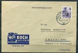 """DDR,GDR 1955 Firmen Bedarfsbrief/Cover Mit Mi.Nr.438 EF Und Tstp.""""Plauen I.V.""""Plauen-Dähre """"1 Beleg - [6] République Démocratique"""