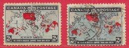 Canada N°73 2c Lilas Pâle, Rouge & Noir & N°73a 2c Bleu-vert, Rouge & Noir 1898 (oblitération à Date) O - 1851-1902 Règne De Victoria
