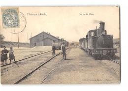 CPA 11 Thezan La Gare Et Le Train Tramway Ligne De La Nouvelle Lezignan - Francia