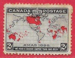 Canada N°73 2c Lilas Pâle, Rouge & Noir 1898 (*) - Nuovi