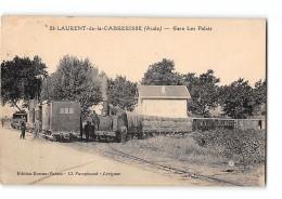 CPA 11 St Saint Laurent De La Cabrisse Gare Les Palais Et Le Train Tramway Ligne De Palais Mouthouomet - France