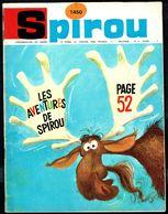 """SPIROU N° 1450 -  Année 1966 - Couverture """"SPIROU"""" De FRANQUIN. - Spirou Magazine"""