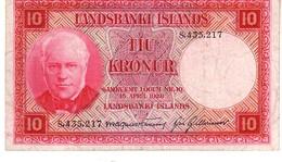 Iceland P.33  10 Kronur 1928 Au++ - Islanda