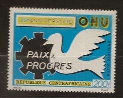 Centrafrique 1970 N° PA 90 ** ONU, Nations Unies, Paix, Progrès, Colombe, Economie, Sécurité, Droits De L'homme, Justice - Central African Republic