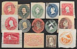 Etats-Unis D'Amérique Entiers Postaux 14 Découpes 1870-193x O - Altri