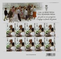 Belgie -Belgique 4184 Velletje Van 10 Postfris - Feuillet De 10 Timbres Neufs  -  Koningin Paola - Feuilles Complètes