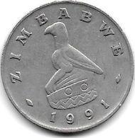 *zimbabwe 20 Cents 1991  Km 4 - Zimbabwe