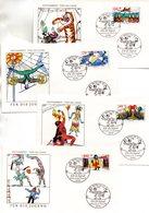 "Westberlin 4 Schmuck-FDC Mi. 838/41 ""Jugend: Zirkus"" ESSt 20.4.1989 BERLIN 12 - [5] Berlino"